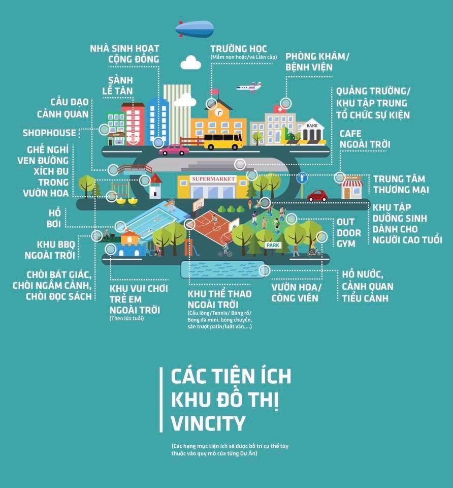 Tiện ích nội khu tại Dự án Vincity