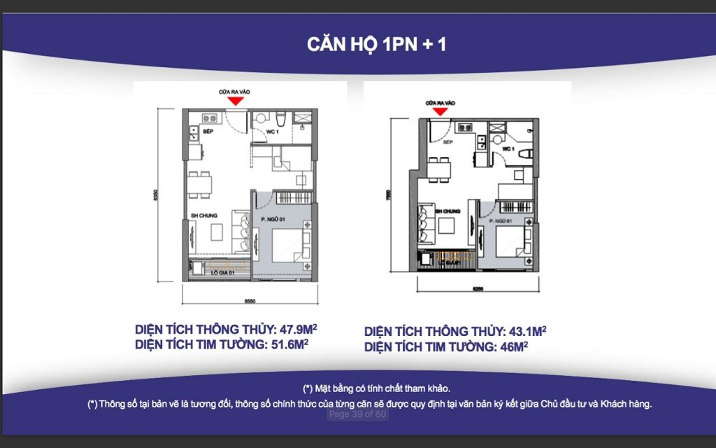 Thiết kế căn hộ 1 phòng ngủ Vinhomes Grand Park Quận 9