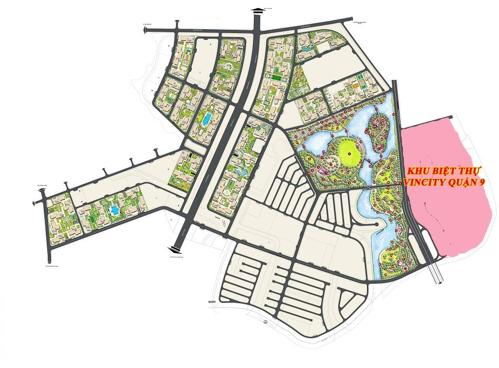 Vị trí Khu Biệt thự Vinhomes Grand Park Quận 9 trong Dự án Vinhomes Quận 9