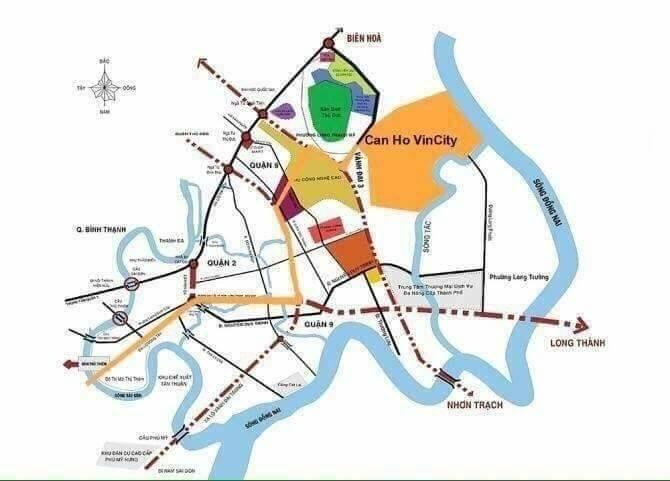 Vị trí Dự án Vinhomes Quận 9