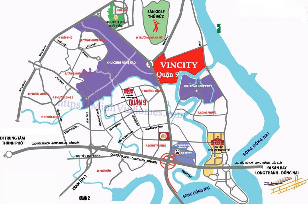 Vị trí Dự án Vinhomes Grand Park