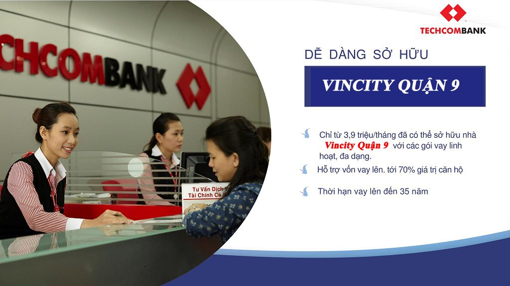 Techcombank hỗ trợ vay vốn Vinhomes Grand Park