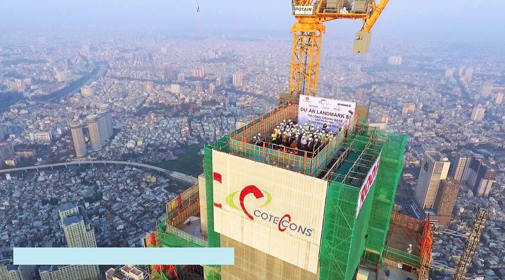 Coteccons thi công Landmark 81