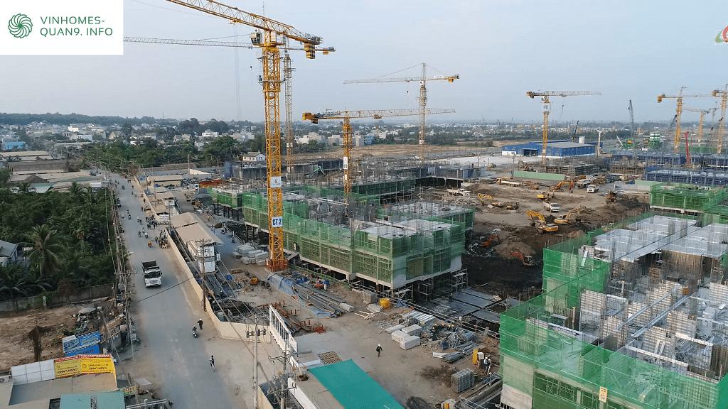 Tiến độ Dự án Vinhomes Grand Park tháng 3 năm 2019