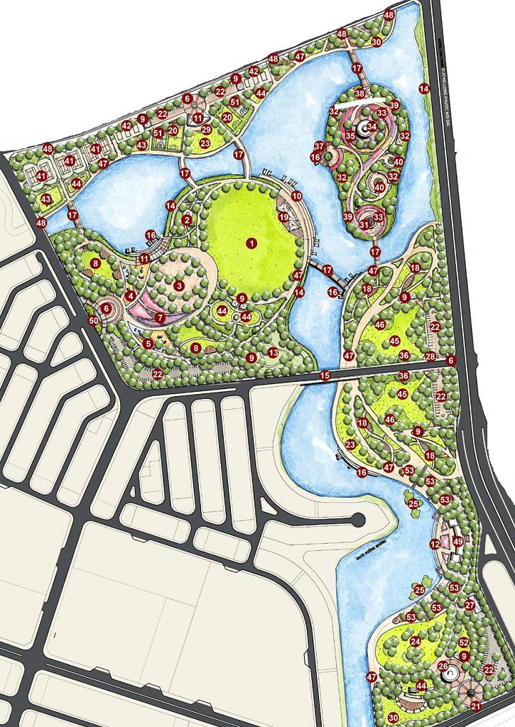 công viên grand forest được tích hợp trong Vinhomes Grand Park