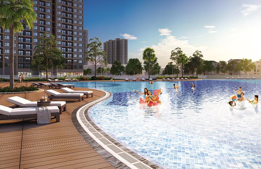 Hồ bơi ngoài trời tại Căn hộ Vinhomes Grand Park