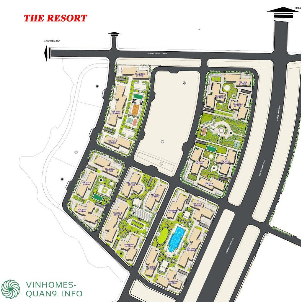 Mặt bằng tổng thể The Hospitality Vinhomes Grand Park Quận 9