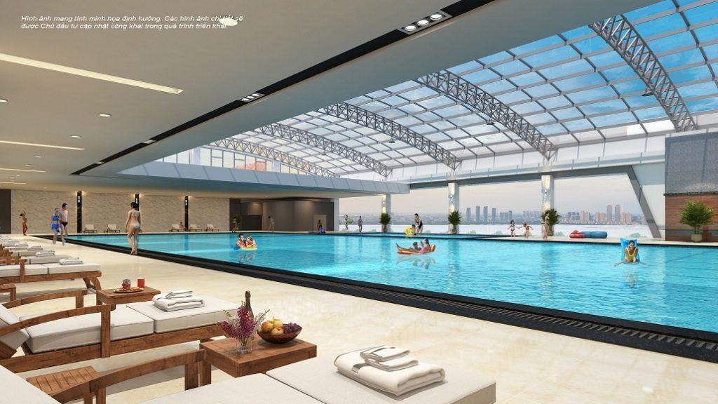 Bể bơi bốn mùa trong nhà tại Vincom Mega Mall Vinhomes Grand Park Quận 9