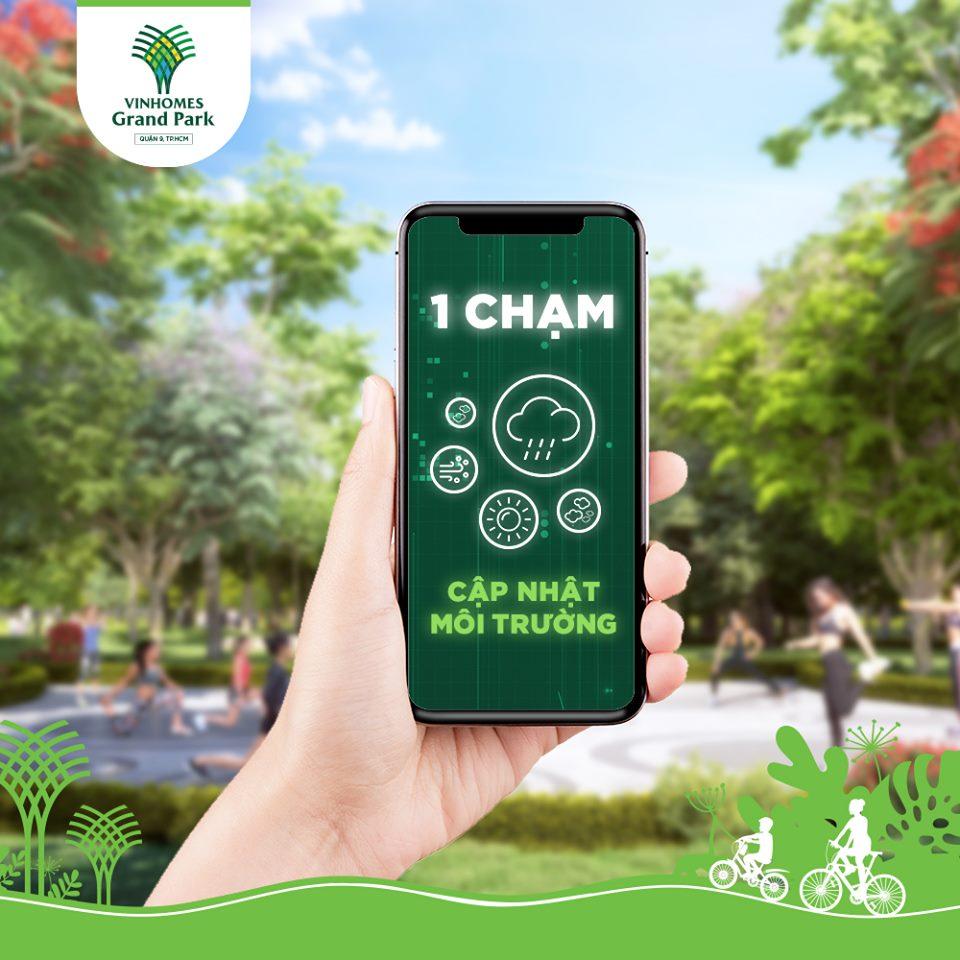 Cập nhật môi trường một chạm tại Vinhomes Grand Park Quận 9
