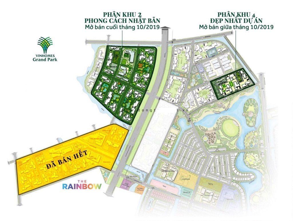 Các tòa căn hộ sẽ được mở bán trong đợt 2 Vinhomes Grand Park Quận 9