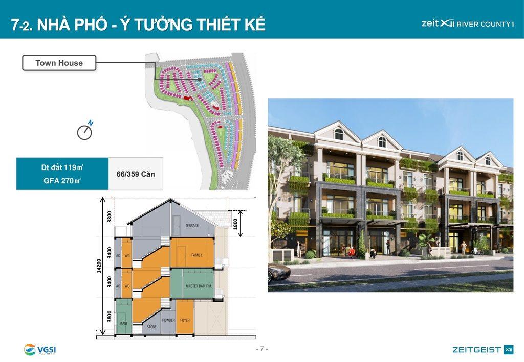 Mặt bằng và thiết kế Nhà Phố Gs Metrocity Nhà Bè