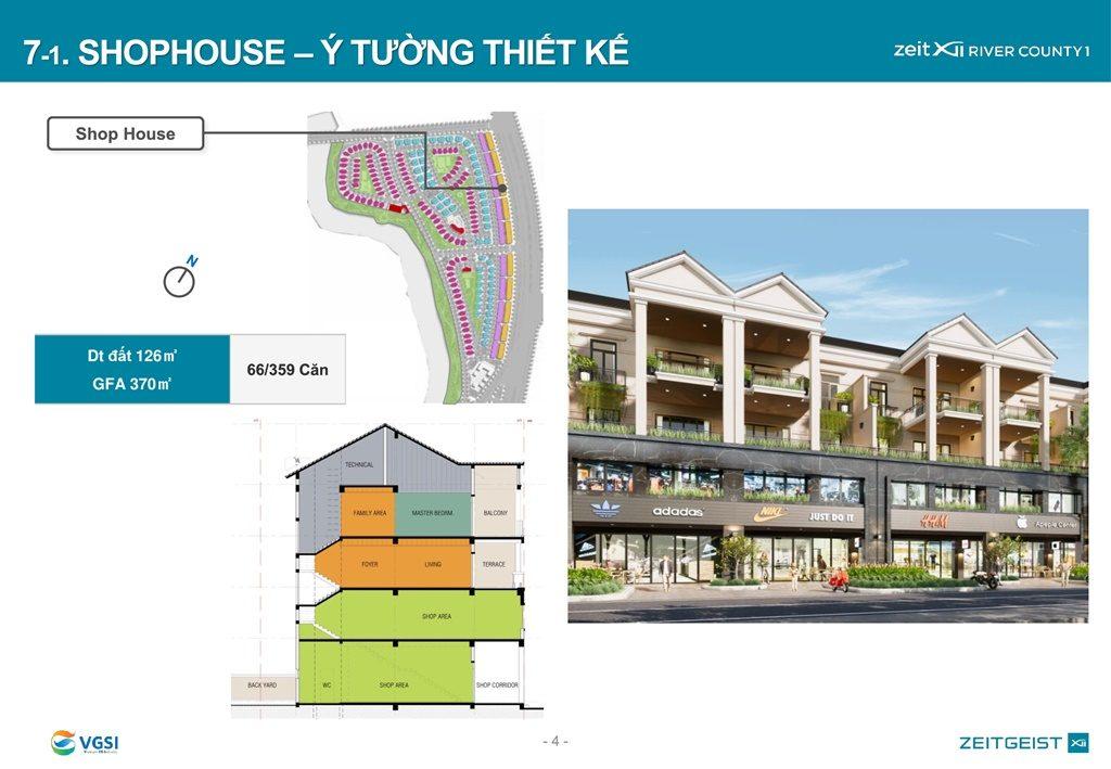 Mặt bằng và thiết kế Shophouse Gs Metrocity Nhà Bè