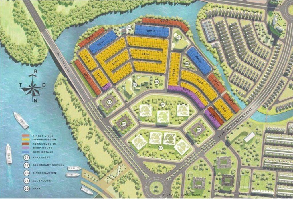 Mặt bằng tổng thể giai đoạn 1 Aqua City Novaland Đồng Nai