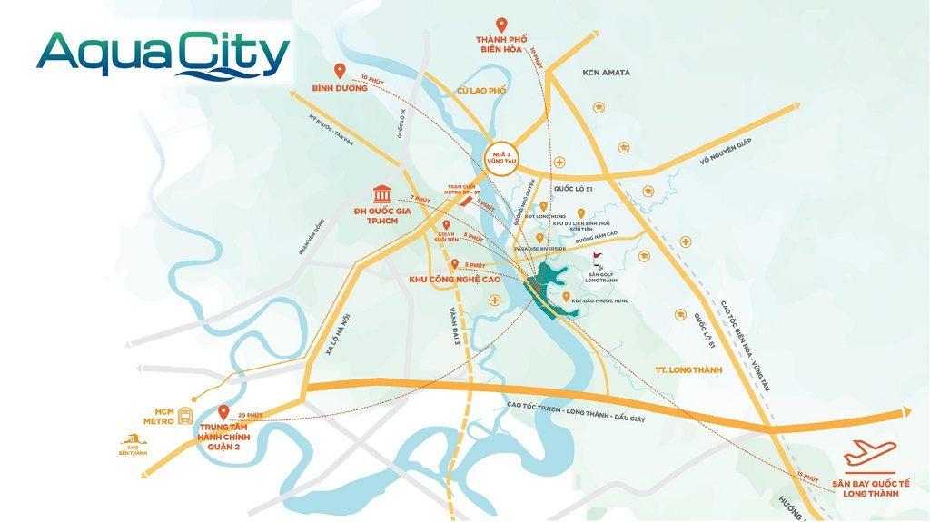 Vị trí Dự án Aqua City Novaland Đồng Nai