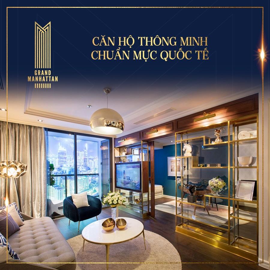 Thiết kế căn hộ Grand Manhattan Novaland Quận 1