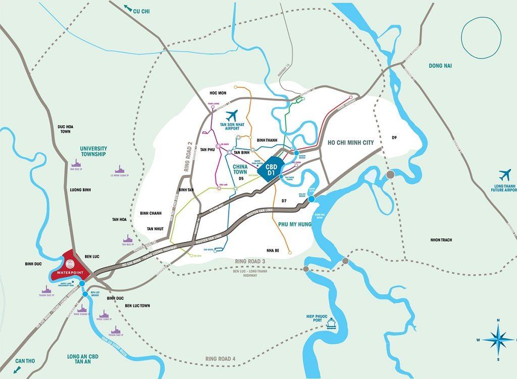 Vị trí Dự án Waterpoint Nam Long