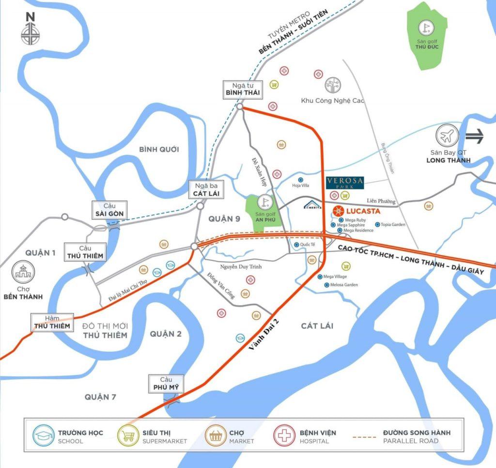 Vị trí Dự án Verosa Park Khang Điền