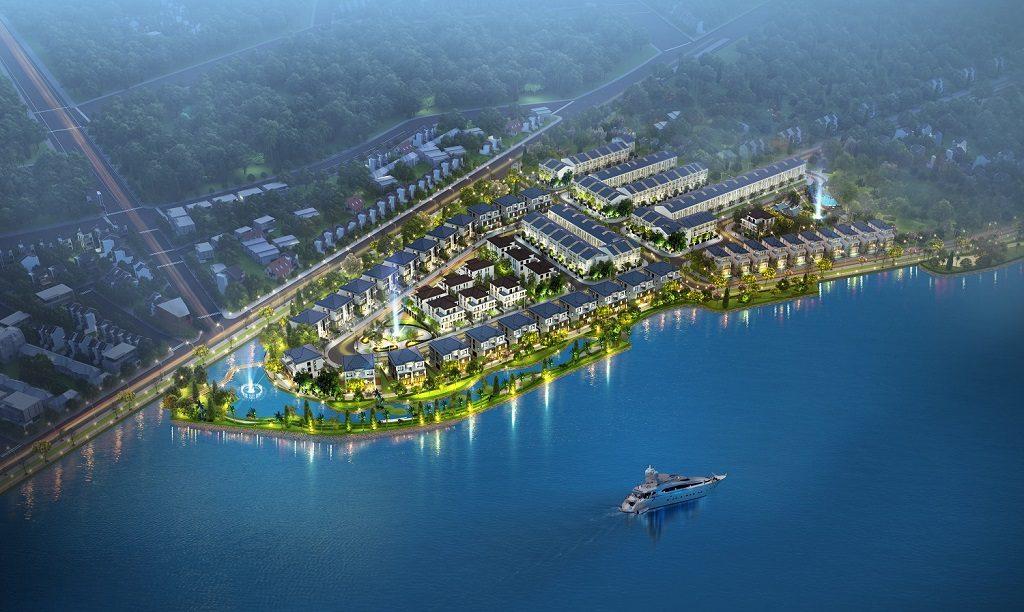 Phối cảnh tổng thể giai đoạn 1 Palm Marina Novaland