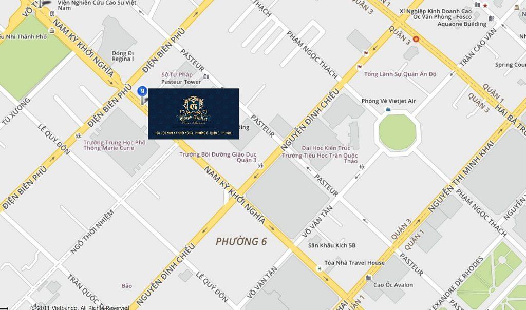 Vị trí Grand Central Quận 3