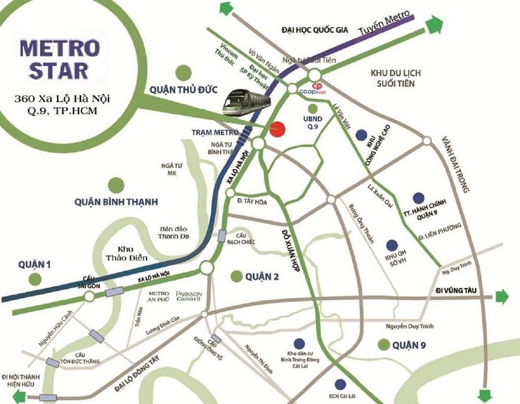 Vị trí Metro Star Quận 9