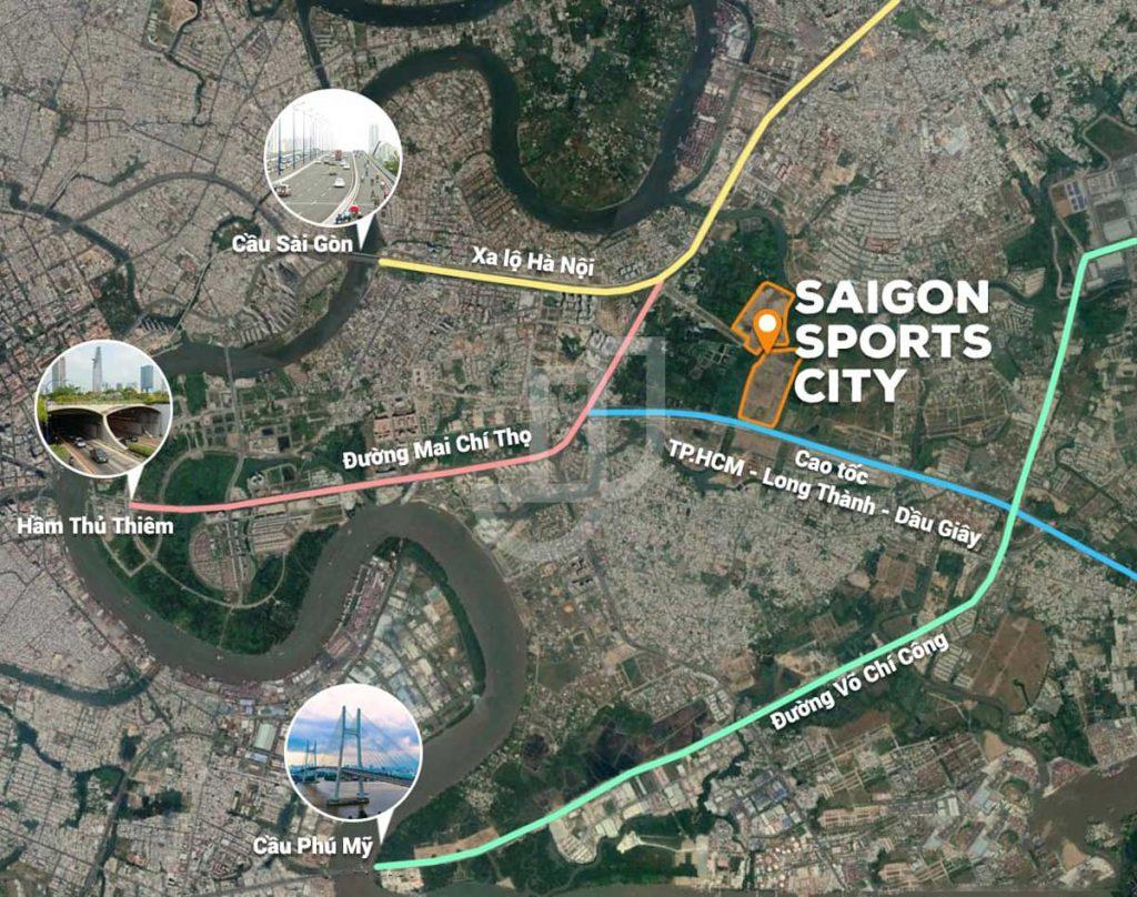 Vị trí Dự án SaiGon Sports City Quận 2