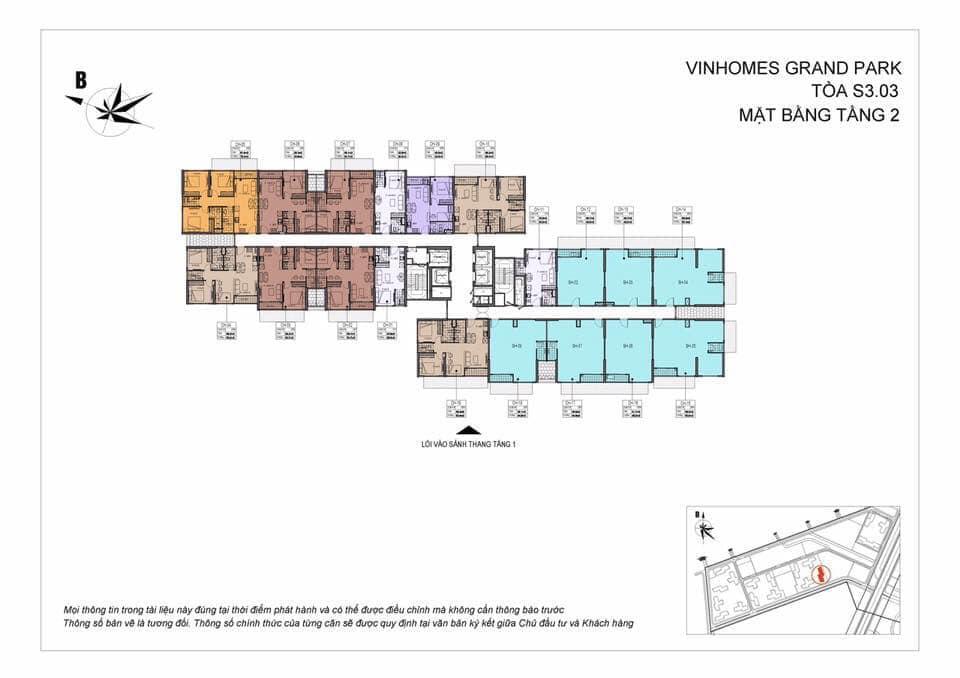 Mặt Bằng Shophouse Vinhomes Grand Park Quận 9 Tòa S3.03 Tầng 2