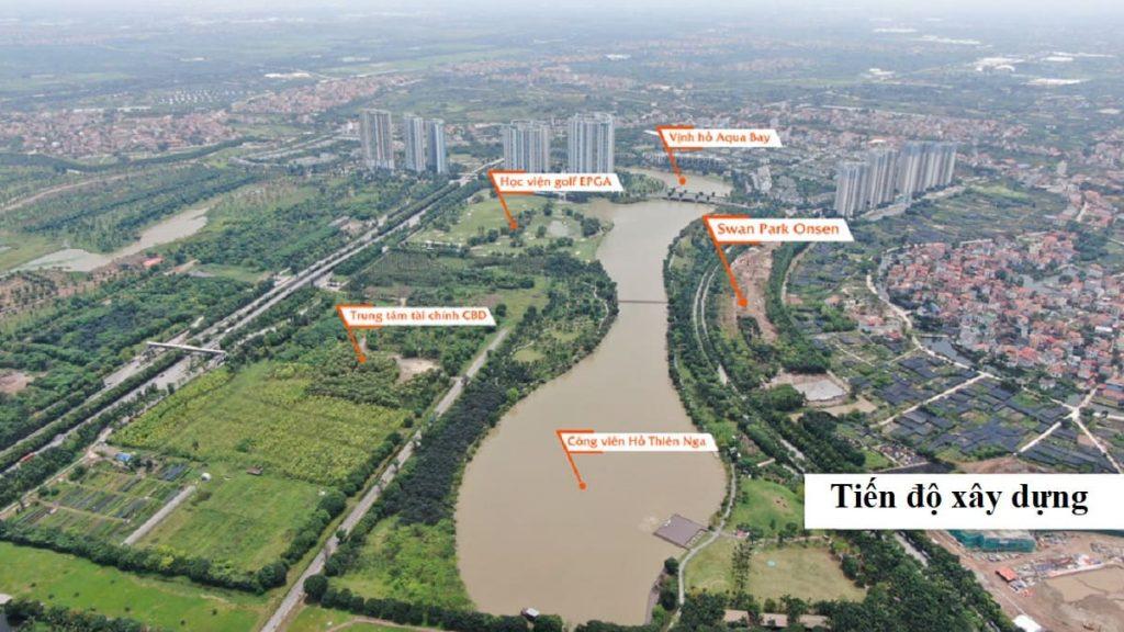 Cập nhật tiến độ xây dựng của dự án Swan Park Onsen Ecopark