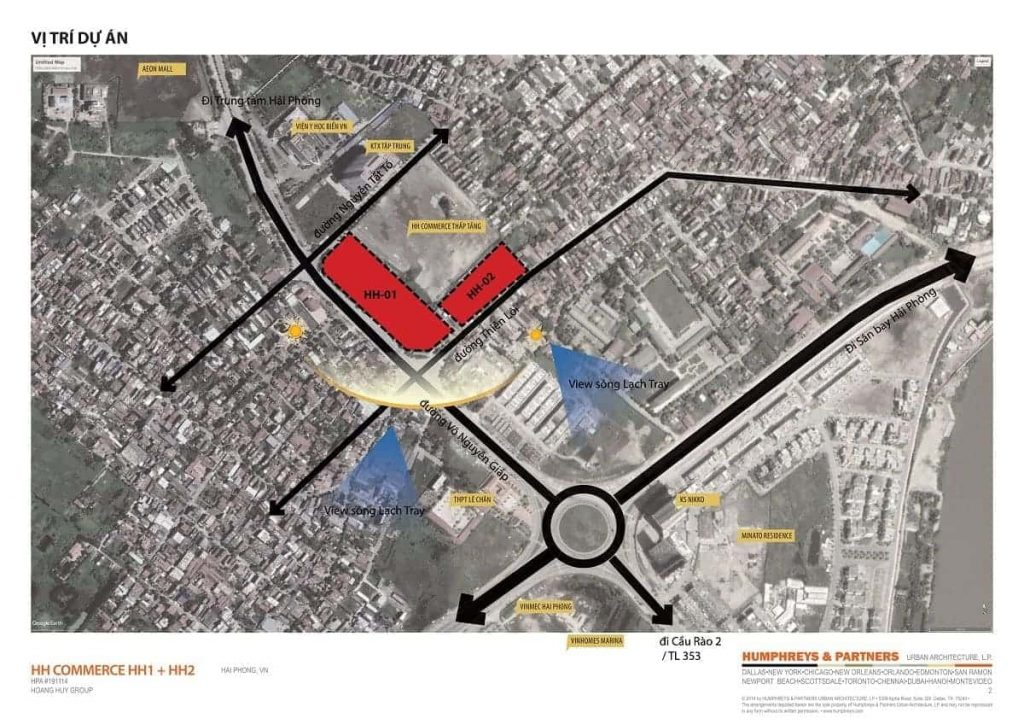 Chi tiết tọa độ dự án khi nhìn trên vệ tinh