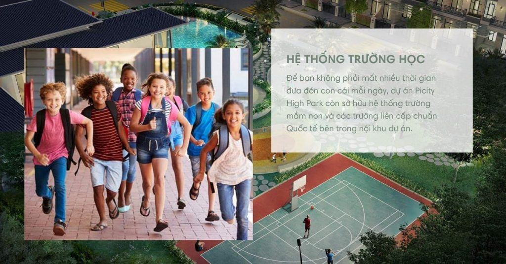 Dự án được đầu tư mạnh mẽ cho khu trường học