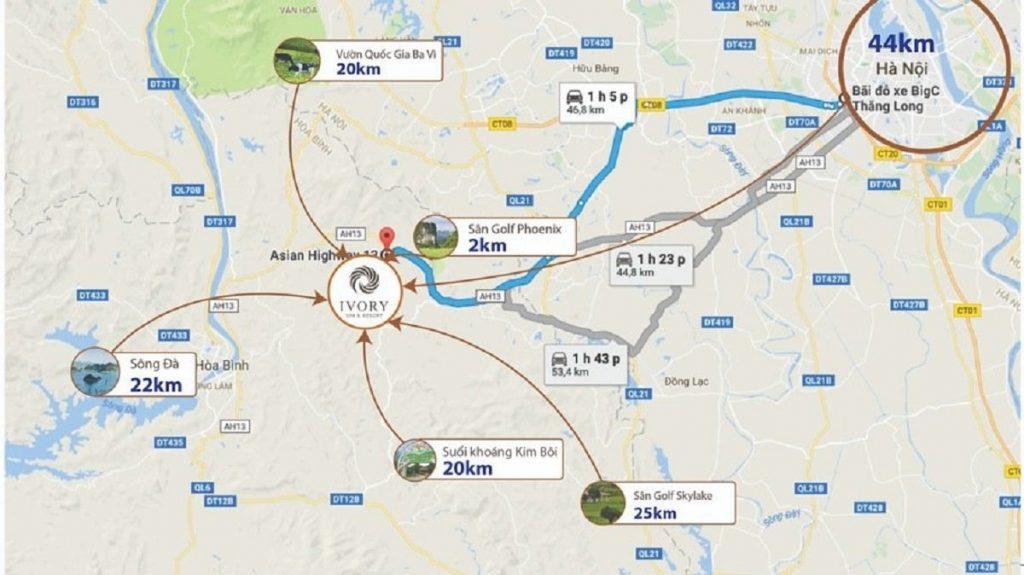 Dự án nghỉ dưỡng Ivory Hòa Bình sở hữu mạng lưới giao thông hoàn thiện