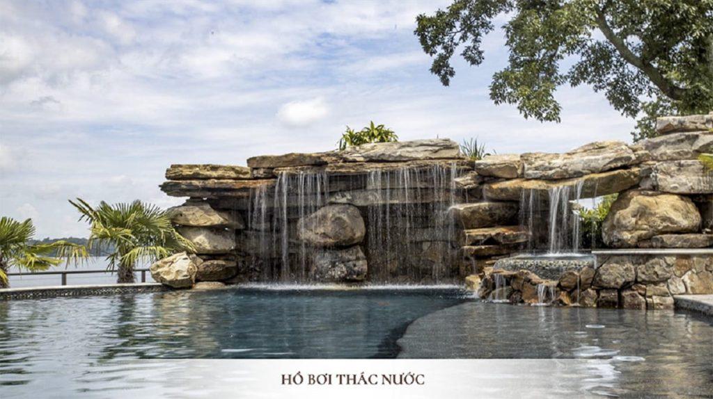 Hồ bơi thác nước phong cách mới lạ tại Swan Park Onsen Ecopark