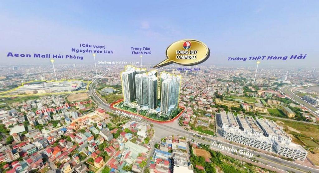 Hưởng trọn lợi thế giao thông ấn tượng Hoàng Huy commerce dễ dàng kết nối toàn khu