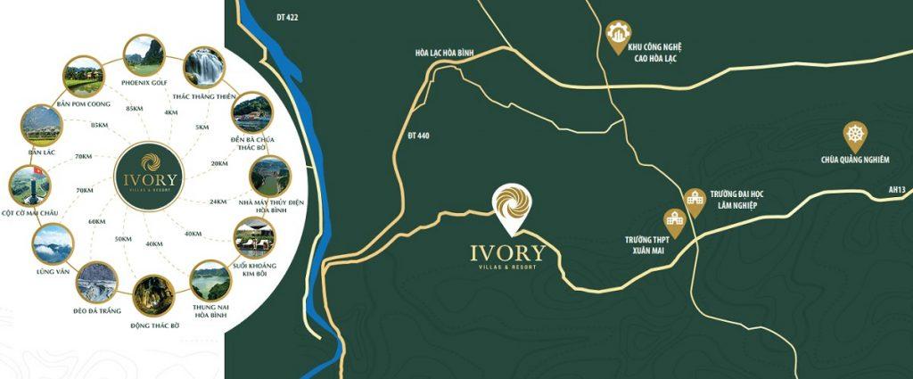 Ivory Hòa Bình kết nối gần với nhiều khu vực trọng điểm