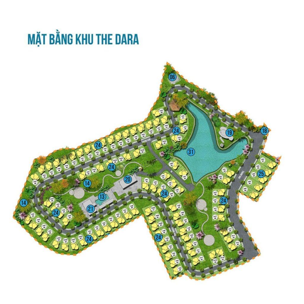 Mặt bằng tổng thể phân khu The Dara Ivory