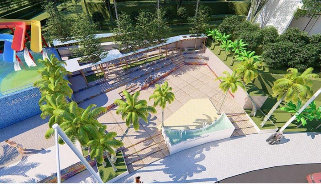 Quảng trường gió thiết kế cấu trúc bậc thang chỉ có tại Ivory Hòa Bình