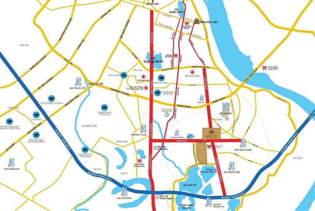 Vị trí xây dựng Louis City vô cùng chiến lược hội tụ đầy đủ 3 yếu tố tam cận tiềm năng
